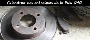 Photo / Menu disques plaquettes pour article calendrier entretien polo g40