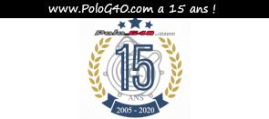 Photo / Menu Logo 15 ans vers l'article des 15 ans du site polog40.com en 2020