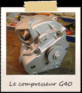 Image 9  : le compresseur de la Polo G40 !
