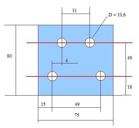 Plan d'une cale d'élargissement