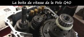 Photo / Menu  vers article sur la boite de vitesse de la Polo G40