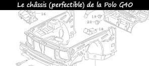 Photo / Menu  vers article sur le châssis de la Polo