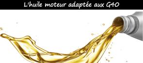 Photo / Menu vers les huiles moteur précaunisées