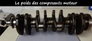 Photo / Menu vers le poids des composants du moteur PY