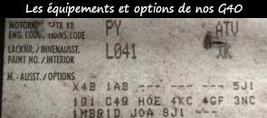 Photo / menu vers l'article sur le décryptage des codes options de l'étiquette d'une Polo G40
