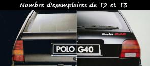 Photo / menu vers l'article sur le nombre de Polo G40 T2 et T3 produites