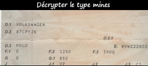 Photo / menu comment décrypter le type mine
