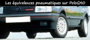 Photo / menu vers l'article sur les montes pneus équivalente pour Polo G40